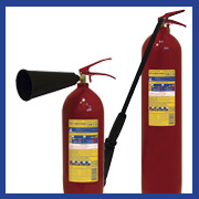 CO2 Carbon dioxide fire extinguishers INEI